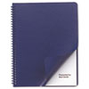 Swingline™ GBC® Leather-Look Binding System Covers, 11-1/4 x 8-3/4, Navy, 50 Sets/Pack SWI2001711