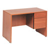 Genoa Series Single Right Pedestal Desk, 45w x 24d x 29h, Oak GLBG2445SPRHVO