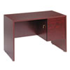 Global Genoa Series Single Right Pedestal Desk, 45w x 24d x 29h, Mahogany GLBG2445SPRQTM