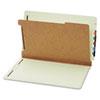 Pendaflex® Pressboard End Tab Classification Folders, Four Sections, Legal, Green, 10/Box GLW23314