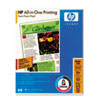 HP All-In-One Printing Paper, 96 Bright, 22lb, Letter, White, 500 Sheets/Ream HEW207000