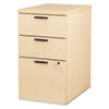 <strong>HON®</strong><br />10500 Series Box/Box/File Mobile Pedestal, 15.75w x 22.75d x 28h,Natural Maple