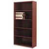 HON® 10500 Series Laminate Bookcase, Five-Shelf, 36w x 13-1/8d x 71h, Mahogany HON105535NN