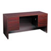 HON® 10500 Series Kneespace Credenza With 3/4-Height Pedestals, 60w x 24d, Mahogany HON10565NN