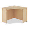 "<strong>HON®</strong><br />10500 Series Curved Corner Workstation, 36"" x 36"" x 29.5"", Natural Maple"