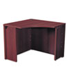 "<strong>HON®</strong><br />10500 Series Curved Corner Workstation, 36"" x 36"" x 29.5"", Mahogany"