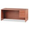 "<strong>HON®</strong><br />10500 Series ""L"" Workstation Right Pedestal Desk, 66"" x 30"" x 29.5"", Bourbon Cherry"