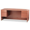 HON® 10500 Series Bow Front Desk, 3/4-Height Dbl Peds, 72 x 36 x 29-1/2, Bourbon CY HON10595HH
