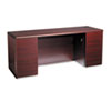 HON® 10700 Kneespace Credenza, Full Height Pedestals, 72w x 24d x 29 1/2h, Mahogany HON10741NN