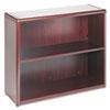 HON® 10700 Series Wood Bookcase, Two Shelf, 36w x 13 1/8d x 29 5/8h, Mahogany HON10752NN