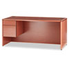 """<strong>HON®</strong><br />10700 Series """"L"""" Workstation Desk with Three-Quarter Height Pedestal on Left, 66"""" x 30"""" x 29.5"""", Bourbon Cherry"""