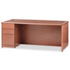 HON® 10700 Series Single Pedestal Desk, Full Height Left Ped, 72 x 36, Bourbon Cherry HON10788LHH