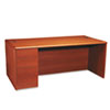 10700 Series Single Pedestal Desk, Full Left Pedestal, 72 x 36, Henna Cherry