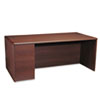 HON® 10700 Series Single Pedestal Desk, Full Left Pedestal, 72 x 36, Mahogany HON10788LNN