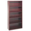 HON® Valido 11500 Series Bookcase, Five-Shelf, 36w x 13-1/8d x 71h, Mahogany HON11555AXNN