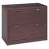 HON® Valido 11500 Series Two-Drawer Lateral File, 36w x 20d x 29 1/2h, Mahogany HON11563AFNN