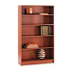 "HON 1870 Series Henna Cherry Laminate Bookcase - 11.5"" x 36"" x 60"" - 5 Shelve(s) - Square Edge - Mat HON1875J"