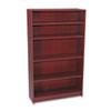 HON® 1890 Series Bookcase, Five Shelf, 36w x 11 1/2d x 60 1/8h, Mahogany HON1895N