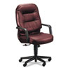 HON® 2090 Pillow-Soft Series Executive Leather High-Back Swivel/Tilt Chair, Burgundy HON2091SR69T