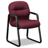 2090 Pillow-Soft Series Guest Arm Chair, Wine Upholstery/Black Sled Base HON2093NT69T