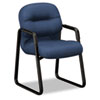 2090 Pillow-Soft Series Guest Arm Chair, Mariner Upholstery/Black Sled Base HON2093NT90T