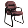 HON® 2090 Pillow-Soft Series Leather Guest Arm Chair, Burgundy HON2093SR69T