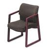 HON® 2400 Series Guest Arm Chair, Mahogany Finish, Gray Fabric HON2403NAB12