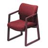 HON® 2400 Series Guest Arm Chair, Mahogany Finish, Burgundy Fabric HON2403NAB62