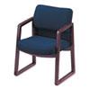 HON® 2400 Series Guest Arm Chair, Mahogany Finish, Blue Fabric HON2403NAB90