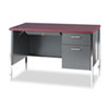 "<strong>HON®</strong><br />34000 Series Right Pedestal Desk, 45.25"" x 24"" x 29.5"", Mahogany/Charcoal"