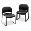 HON® GuestStacker Series Chair, Black with Black Finish Legs, 4/Carton HON4031ONT