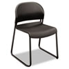 HON® GuestStacker Series Chair, Charcoal with Black Finish Legs, 4/Carton HON4031LAT