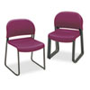 HON® GuestStacker Series Chair, Burgundy with Black Finish Legs, 4/Carton HON4031MBT