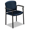 HON Pagoda 4070 Series 4071 Stacking Chair - Polyester Mariner, Acrylic Seat - Metal Black Frame - M HON4071NT90T