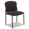 "HON Pagoda 4070 Series Armless Stacking Chair - Black Seat - Steel Black Frame - Black - 20.25"" Seat HON4073NT10T"