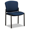 HON Pagoda 4070 Series 4073 Armless Stacking Chair - Acrylic Mariner, Polyester Seat - Steel Black F HON4073NT90T