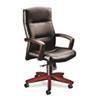 HON® 5000 Series Park Avenue Executive High-Back Swivel/Tilt Chair, Blackl/Mahogany HON5001NEE11