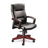 HON® 5000 Series Executive High-Back Swivel/Tilt Chair, Black Leather/Mahogany HON5001NSS11