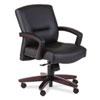 5000 Series Park Avenue Managerial Mid-Back Chair, Mahogany/Black Vinyl HON5002NEE11
