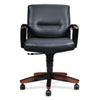 5000 Series Park Avenue Managerial Mid-Back Chair, Mahogany/Black Leather HON5002NSS11