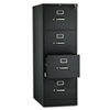 <strong>HON®</strong><br />510 Series Four-Drawer Full-Suspension File, Legal, 18.25w x 25d x 52h, Black