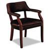 HON® 6550 Series Guest Arm Chair, Mahogany/Oxblood Vinyl Upholstery HON6551NEJ65