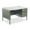 HON® Metro Classic Right Pedestal Desk, 48w x 30d x 29 1/2h, Gray Patterned/Charcoal HONP3251RG2S