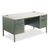 HON® Metro Classic Double Pedestal Desk, 60w x 30d x 29 1/2h, Gray Patterned/Charcoal HONP3262G2S