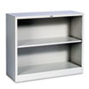 HON® Metal Bookcase, Two-Shelf, 34-1/2w x 12-5/8d x 29h, Light Gray HONS30ABCQ