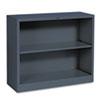 HON® Metal Bookcase, Two-Shelf, 34-1/2w x 12-5/8d x 29h, Charcoal HONS30ABCS