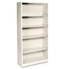 HON® Metal Bookcase, Five-Shelf, 34-1/2w x 12-5/8d x 71h, Putty HONS72ABCL