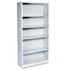 HON® Metal Bookcase, Five-Shelf, 34-1/2w x 12-5/8d x 71h, Light Gray HONS72ABCQ