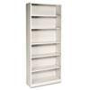 HON® Metal Bookcase, Six-Shelf, 34-1/2w x 12-5/8d x 81-1/8h, Putty HONS82ABCL