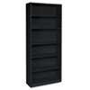 HON® Metal Bookcase, Six-Shelf, 34-1/2w x 12-5/8d x 81-1/8h, Black HONS82ABCP